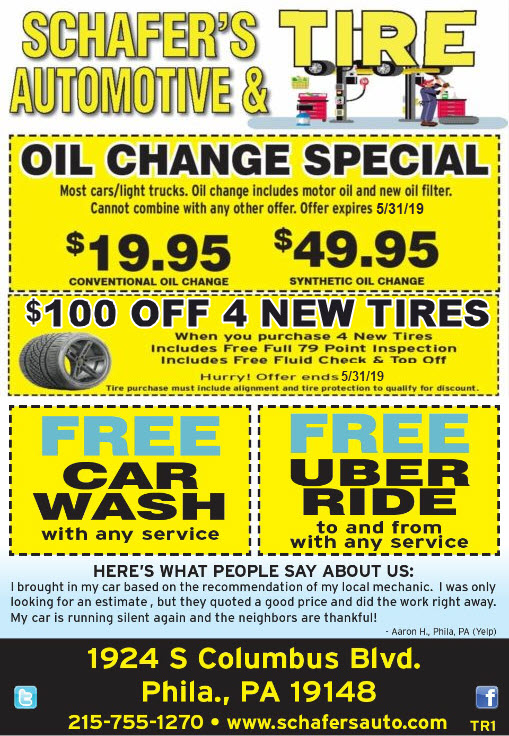 Specials & Financing | Schafer's Auto Center | Philadelphia, PA